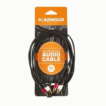 Armour RCA22 2x RCA to 2x RCA Cable 10ft