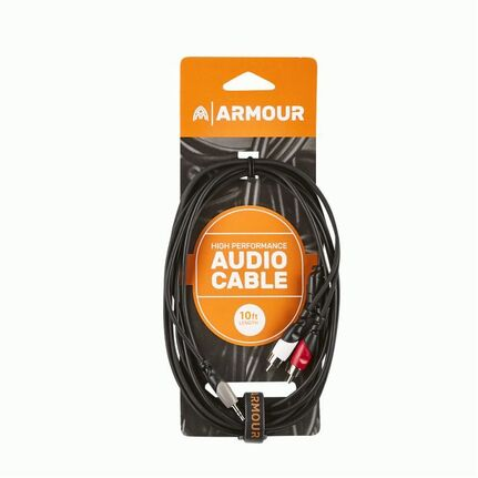 Armour RCA29S 1/8 Stereo to 2x RCA Cable 10ft