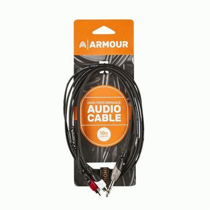 Armour RCA26S 1/4 Stereo to 2x RCA Cable 10ft