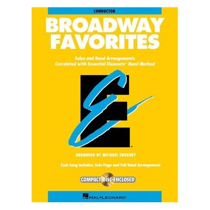 Essential Elements Broadway Favorites Conductor Bk/CD