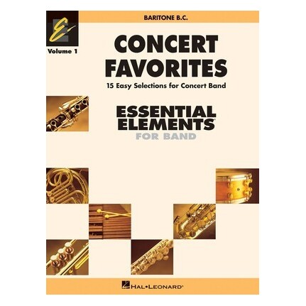 Essential Elements Baritone BC Concert Favorites Vol 1