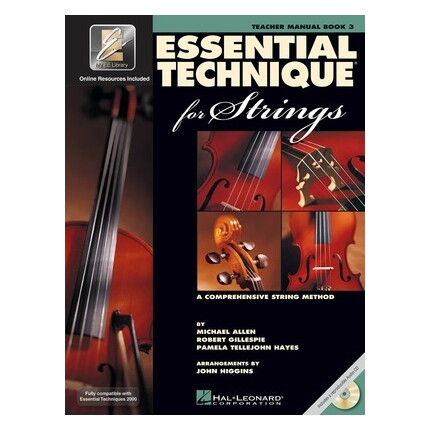 Essential Technique For Strings Teachers Manual Book 3 with CD
