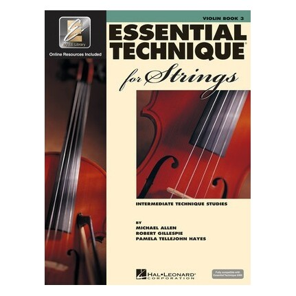 Essential Technique for Strings Violin (Essential Elements Book 3)