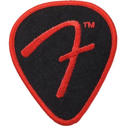 "Fender ""f"" Pick Patch, Black And Red"