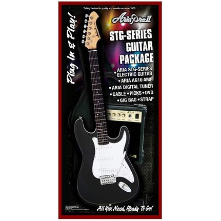 Aria AREGP3BK STG-Series Black Electric Guitar