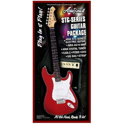 Aria AREGP3CA STG-Series Candy Apple Red Electric Guitar