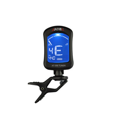 Aroma AT355 Electronic Clip-On Tuner For Guitar, Bass And Chromatic Black Finish