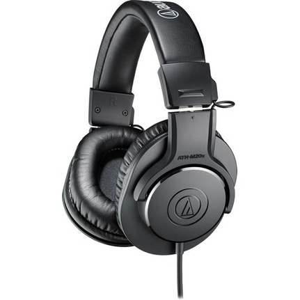 Audio Technica ATH-M20x Entry-Level Monitor Headphones Black