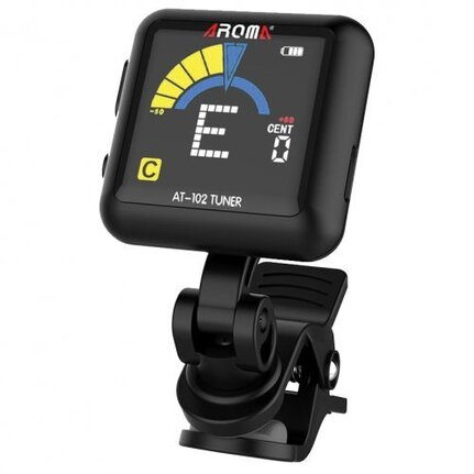 Aroma AT102BK  Rechargable Chromatic Clip-on Tuner Black