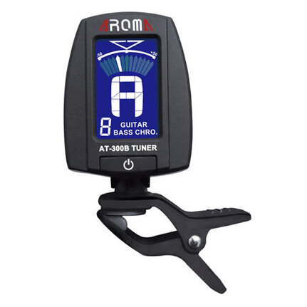 Aroma At300B Electronic Clip-On Tuner For Guitar, Bass And Chromatic