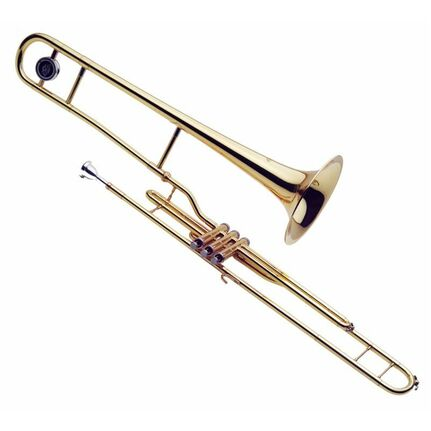 J.Michael TB600V Valve Trombone (Bb) Clear Lacquer Finish