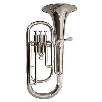 J.Michael TH750S Tenor Horn (Bb) Silver Plated Finish