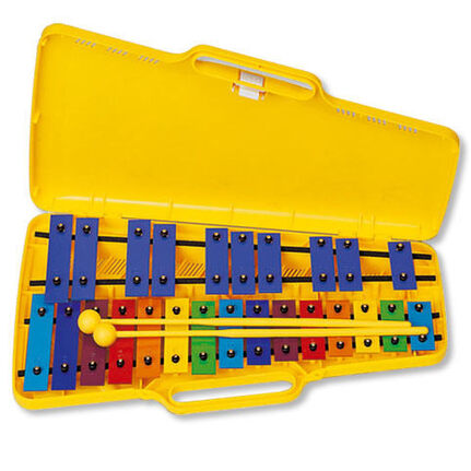 Angel AX25N 25 Note Glockenspiel - Coloured Bars G4-G6