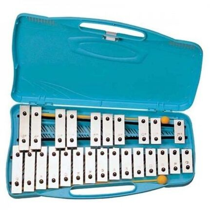 Angel AX25S 25 Note Glockenspiel - Nickel Plated Bars G4-G6