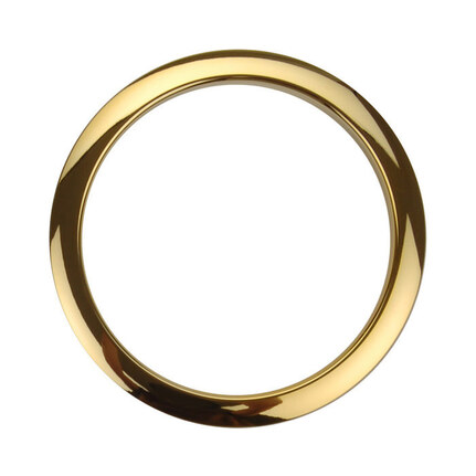 "Bass Drum O's Port Hole Ring - 5"" Brass"