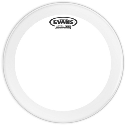Evans BD20GB3C EQ3 Frosted Bass Drum Head, 20 Inch