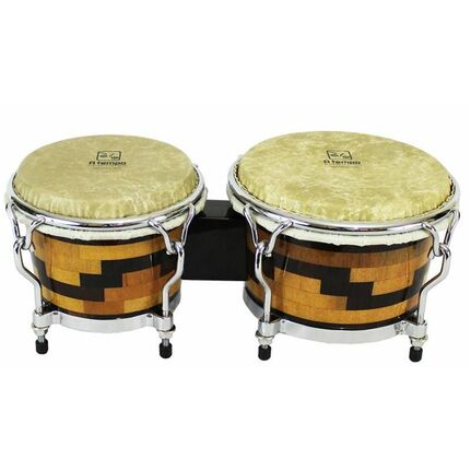 "A Tempo Percussion 7 & 8-1/2"" Artesano Bongos in Escalando Pattern"