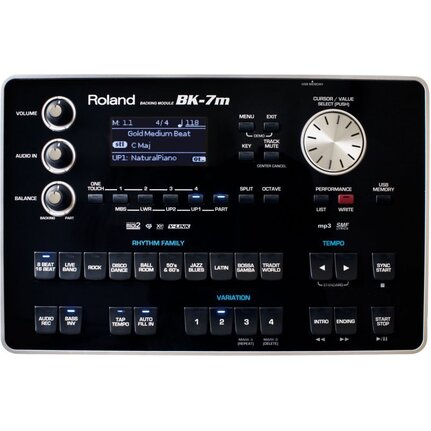 Roland Bk7M Portable Backing Module 1,000-Plus Tones, 57 Drum Kits, 128-Voice Polyphony