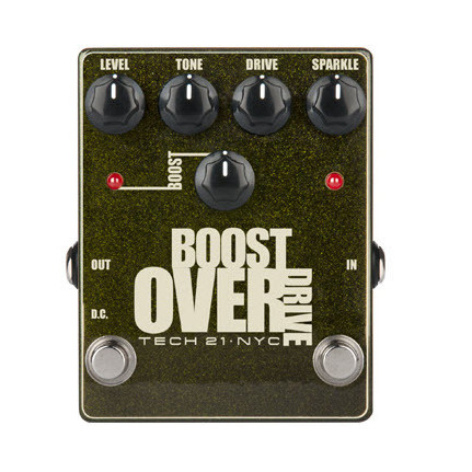 TECH 21 Boost Fuzz Overdrive Effects Pedal