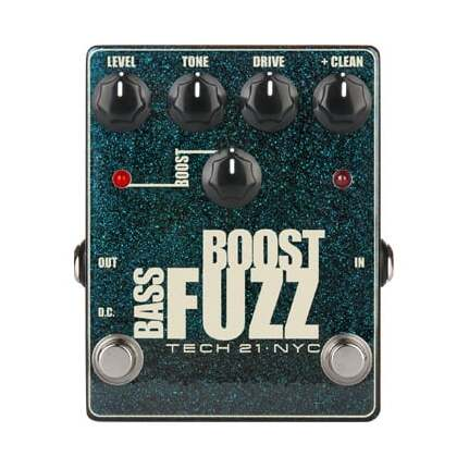 TECH 21 Boost Metallic Bass Fuzz Pedal