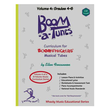 "Boomwhackers BWBT4B ""Boom-a-Tunes Volume 4"" Curriculum Book/CD"