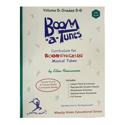 "Boomwhackers BWBT5B ""Boom-a-Tunes Volume 5"" Curriculum Book/CD"