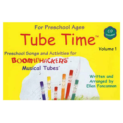 "Boomwhackers BWETM1 ""Tube Time Volume 1"" Book/CD"