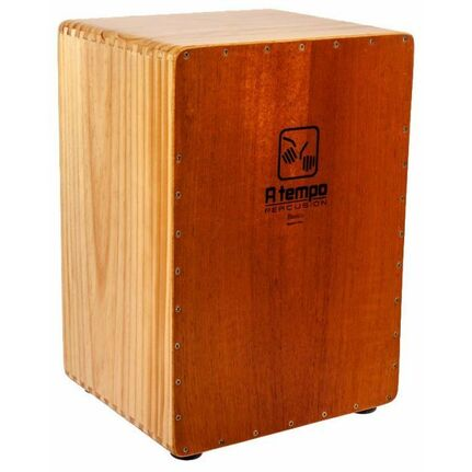 A Tempo Percussion CJBASIC01 Basic Flamenco Cajon in Natural Satin Finish