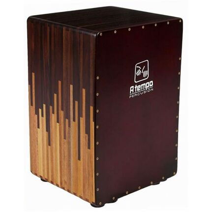 A Tempo Percussion CJCASCATS Cascada Tuneable Flamenco Cajon in Natural Gloss Finish