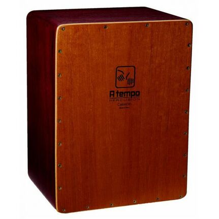A Tempo Percussion CJCCITO20 Cajoncita Mohena Flamenco Cajon in Natural Satin Finish