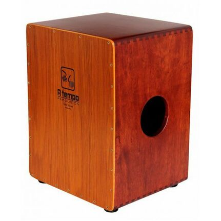 A Tempo Percussion CJDOSV01 Dos Voces Double-Sided Cajon in Natural Finish