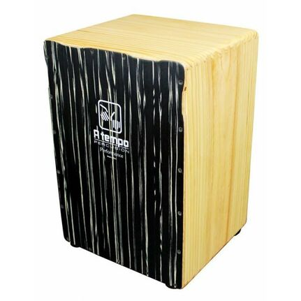A Tempo Percussion Performance Series Cajon in Black Wood Grain Matte