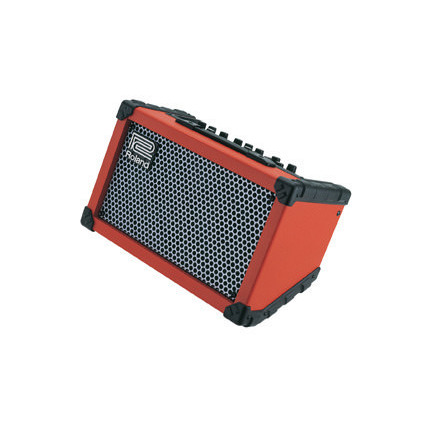 Roland Cubestr Battery Powered Busking Stereo Amplifier (Red)