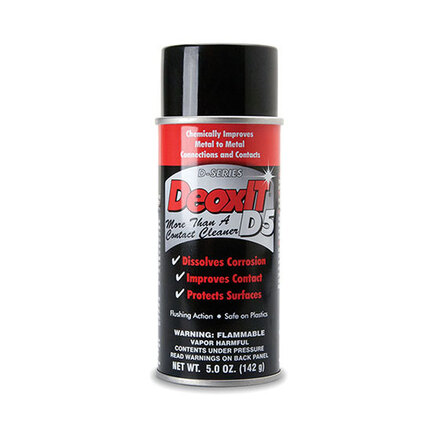 Hosa D5S6 CAIG DeoxIT Contact Cleaner, 5% Spray, 5 oz