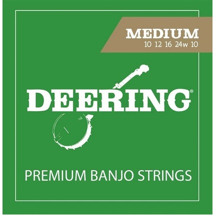 Deering 5-String Medium Banjo String Set