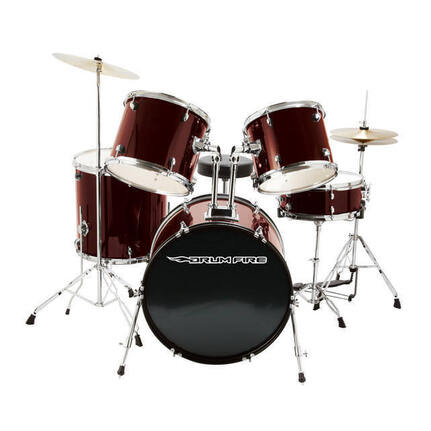 Drumfire DFDK7500WR 5PCE STUDENT DRUM KIT IN RED