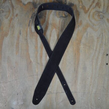 Colonial Leather Black Double Suede Guitar Strap