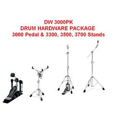 DW 3000Pk Drum Hardware Pack Includes 3000 Pedal & 3300, 3500, 3700 Stands