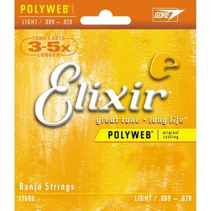 Elixir 11600 Polyweb Banjo 5-String Set Light 9-20
