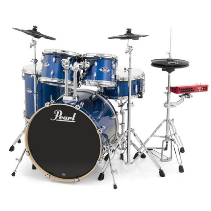 "Pearl ePro Powered by Export 22"" Fusion Plus Electronic Drum Kit Electric Blue Sparkle"