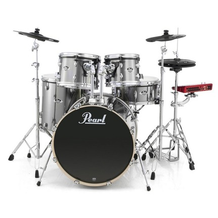 "Pearl ePro Powered by Export 22"" Fusion Plus Electronic Drum Kit Grindstone Sparkle"