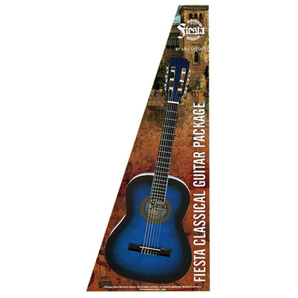 Aria FPK200BLS Fiesta Classical Nylon-String Guitar Pack Blue Shade