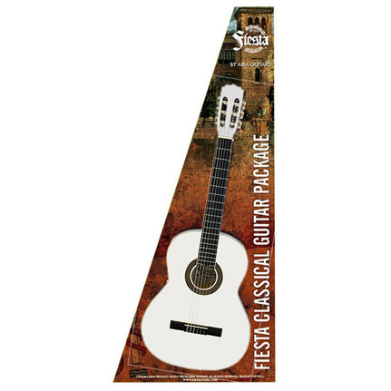 Aria FPK200WH Fiesta Classical Nylon-String Guitar Pack White