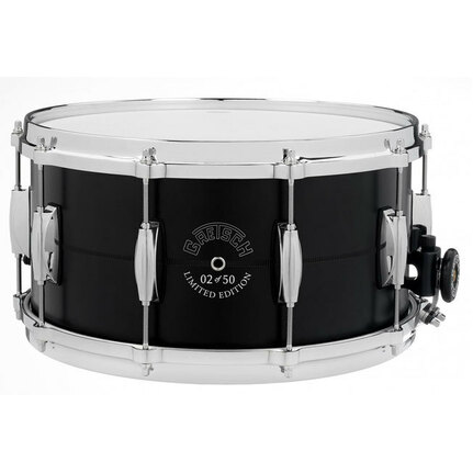 Gretsch Limited USA Snare Drum Black Powder Coated Aluminium Shell - 14 x 7""