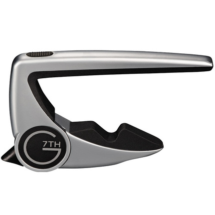 G7 Performance 2 Classical Capo Silver For Flat Fingerboards