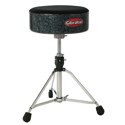 Gibraltar 9000 Series Deluxe Softy Drum Stool Throne Black Pearl 9708Sftbd