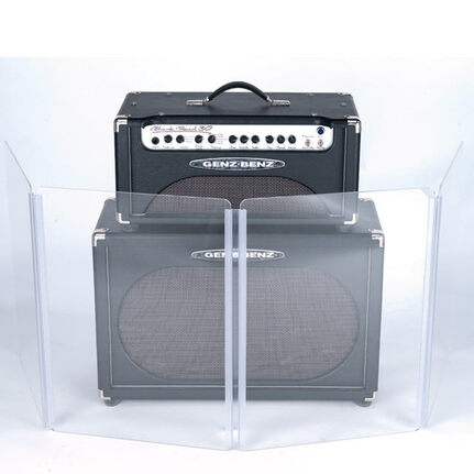 Gibraltar Acrylic Sound Shield For Half Stack Guitar Amp 2Ft X 6Ft 4-Panels