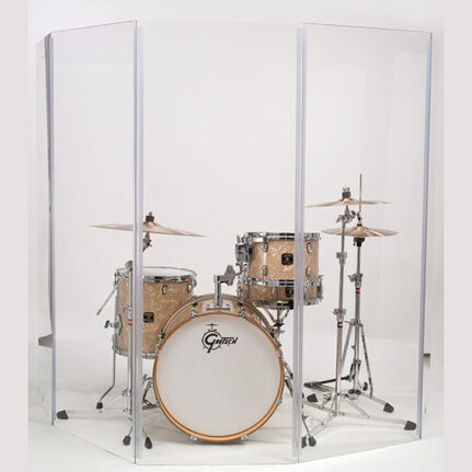 Gibraltar 5-Piece Acrylic Drum Shield / Clear Screen 5.5X10 T Panel
