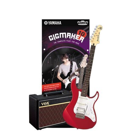 Yamaha Gigmaker10Rm Electric Guitar And Amp Pack Red Metallic