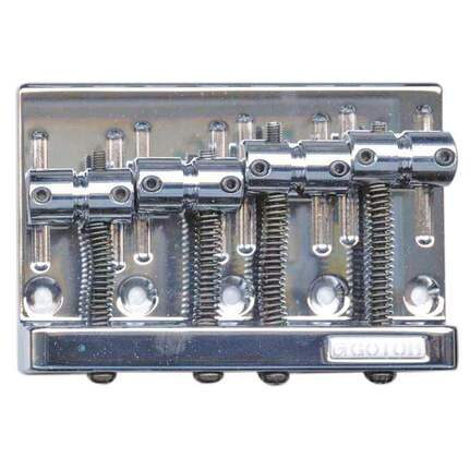 Gotoh GP8334 Heavy Duty 4-String Bass Bridge Chrome